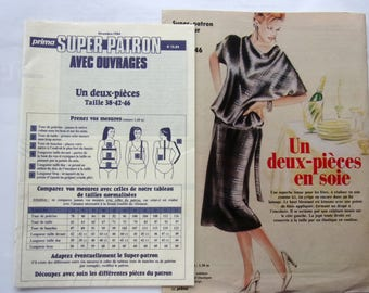SEWING pattern PRIMA - 12/84 - two PIECES of silk for women