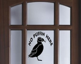No puffin no smoking decal