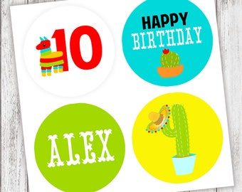 Fiesta #Party #Stickers