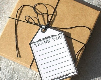 THANK YOU JOURNALING GIFT TAGS - Set of 8