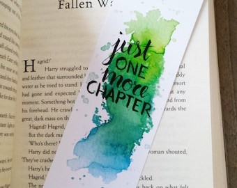 Watercolor Bookmark - Just one more chapter (by Keymarks)