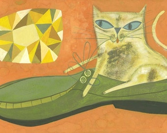 After indulging in catnip, Isabelle enjoys shoes even more than the illusive 52.5 carat floating yellow diamond.