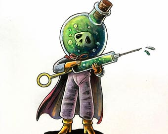 Inktober SotBGC: Day 14. Poison-Punk