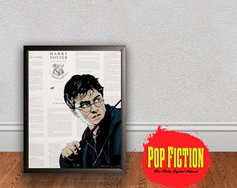 Harry Potter Original Artwork Canvas & Prints. Comics, Book, Collectible. Digital Mix-Media Art. Pop Culture.