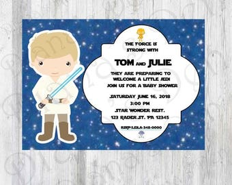 Star Wars Baby Shower Invitation/Star War Baby Shower/Star Wars Invitation/ Baby