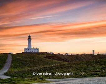 Flamborough Head Sunset (Long Exposure) - Yorkshire Photography - Flamborough, East Riding of Yorkshire - Photographic Print