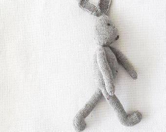 Grey Knitted Rabbit
