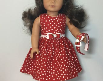 Fits like an American Girl Doll Dress or Fits Like  American Girl Doll Clothes - 18 inch Doll Dress 18 inch Doll Clothes