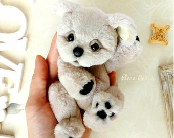 Art handmade plush toy Puppy Little dog