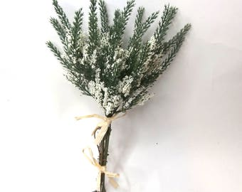 Artificial White Heather Bush|Artificial Flower|Artificial Leaves|Artificial Orchid|Silk Flowers|Flux Flowers|Artificial Floral Bunch