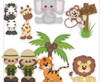 DIGITAL SCRAPBOOKING CLIPART - What A Zoo - Exclusive