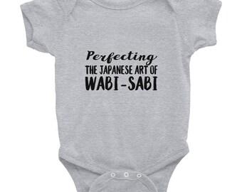 Funny Baby Gift Wabi Sabi Messy Baby Messy House Messy Zen Japanese Art of Wabi Sabi Imperfection Infant Bodysuit