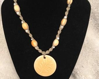 Handmade Beaded Hemp Necklace