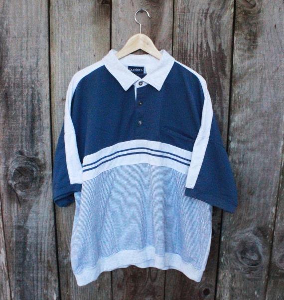 Vintage 1990s 90s Gray 3 Button Elastic Waist Short Sleeve Shirt Mens Streetwear Size L Large 0zFQkyJX7Z