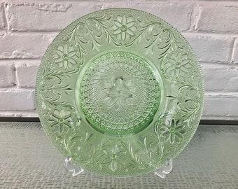 Indiana Glass Sandwich Green Dinner Plate