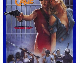 The Naked Cage (1986) movie poster 11 x 17 Shari Shattuck Angel Tompkins women in prison film Christina Whitaker exploitation Cannon Films