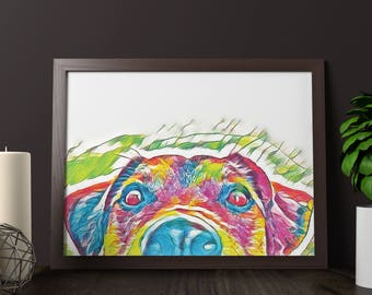 Dog Art Print Wall Art Poster Home Print Instant Download Printable Wall Art Downloadable Prints A1 A2 Poster Size Wall Decor