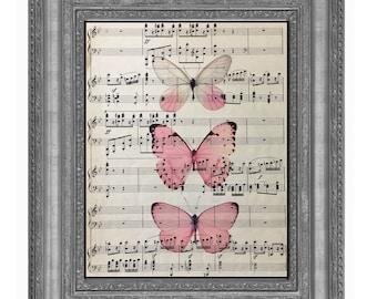 Butterfly, Pink Butterfly, Butterfly Print, Glasswinged Butterfly, Glasswing Butterfly, Butterfly, Butterfly Wall Art, Butterfly Decor Pink