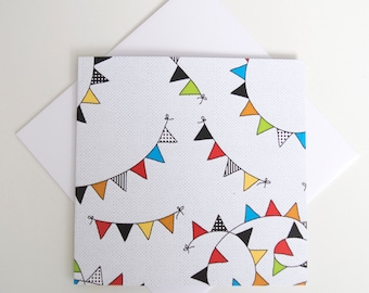 Greeting Card - Mini / Buntings Black