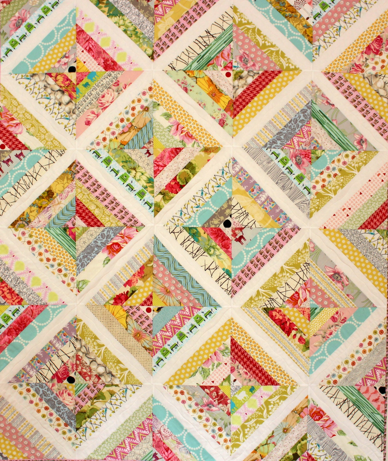Optimist Quilt Pattern, Modern Quilt, String Quilt, Scrap Quilt ...