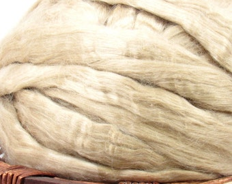Natural Tussah Silk - Undyed Spinning Fiber / 1oz