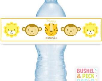 PRINTABLE Baby Animal #Bottle #Labels - (Instant Download) #DIY #digital #printable #file