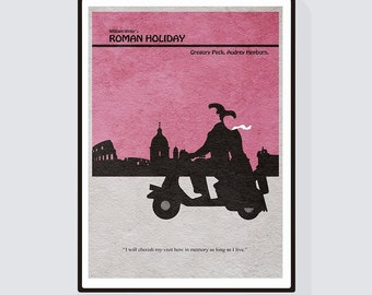 Roman Holiday Minimalist Alternative Movie Print & Poster