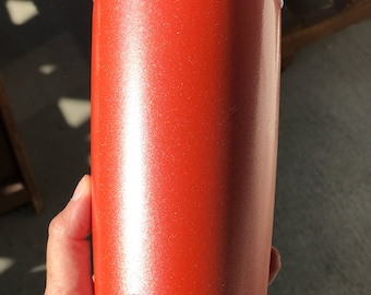 Powder coated | 20oz Yeti rambler Tumbler | stainless steel | mug with the lid | Harley Orange