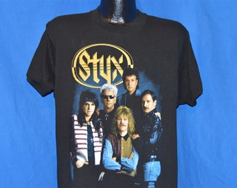 Vintage 1991 STYX Edge Of The Century Tour T Shirt size XL (W 23 x L 28)
