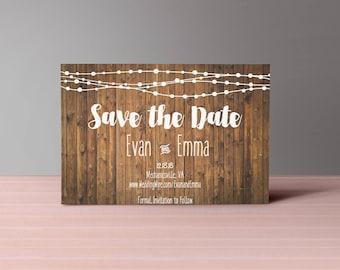 Rustic Save the Date- DIY PRINTABLE Customizable Digital Prints