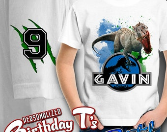 Jurassic World Shirt - Personalized Shirt - Birthday Party Shirt - Custom Shirt