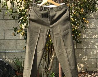 S//Vintage Taupe Levi's Sta Prest Pants 1970's