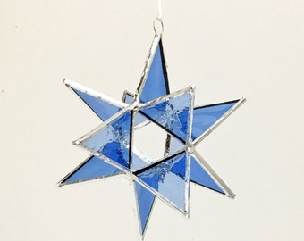 12 Point Moravian Star. Blue  Star. 4,5""