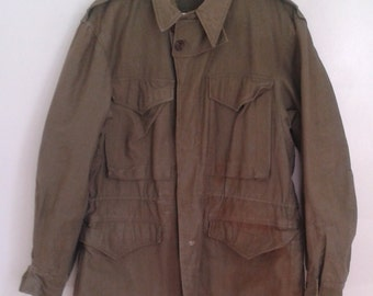 Vintage 1940's US Army Green Field Jacket Sz 36 S Military WWII