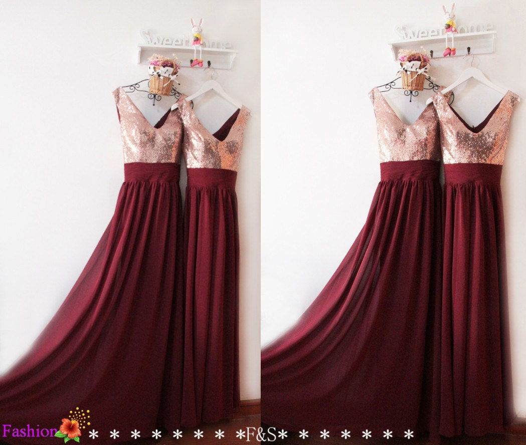 Bridesmaid dresses long 2016burgundy sequin bridesmaid zoom ombrellifo Image collections