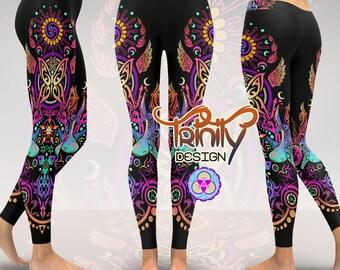 Hippie Pants Goa Pants Hippie Clothes Goa Clothes Goa Clothing Psychedelic Clothing Women YIN YANG Spiritual Clothing Psy Trance Pants EDM