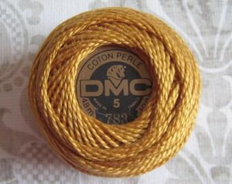 DMC 783 Medium Topaz Perle Cotton Thread Ball Size 5