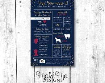 Wedding Program - Navy