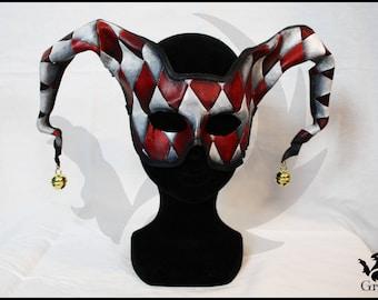 Bell Harlequin leather mask