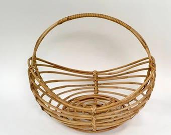 Vintage Franco Albini Style Basket with Handle