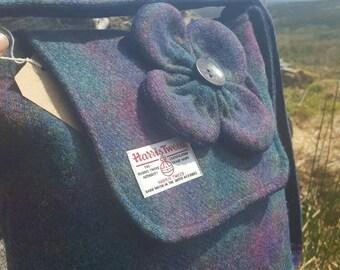Gorgeous Harris Tweed Shoulder Bag with Clover.  Handmade on the beautiful Isle of Skye
