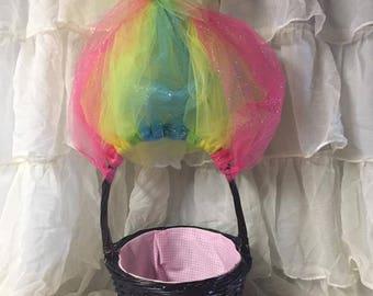 Troll's Easter Basket-Bridget with Rainbow Hair