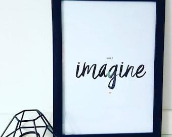 Imagine Typography Print