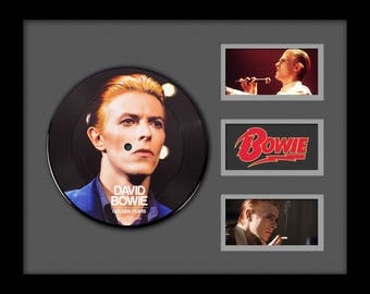 David Bowie - Golden Years - Picture Disc LP Album Custom Framed