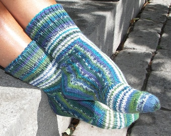 Funny Socks - for winter, spring, summer and fall - a collection of four sock patterns by Anita Grahn