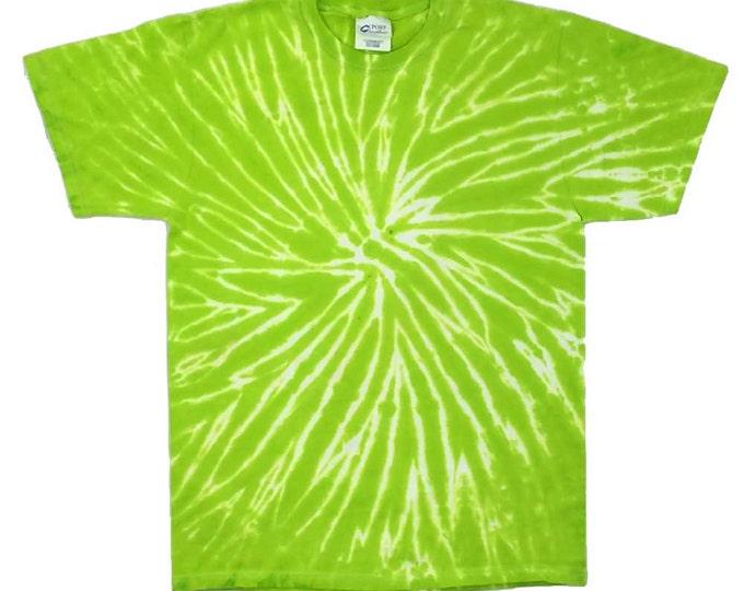Tie Dye T-Shirt - Spiral Green