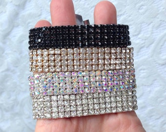 Rhinestone Wristbands for your custom made Corsage, You Pick the Colors... DIY Corsage