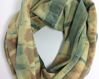 Infinity scarf, Hand dyed, tie dye, shibori, scarf, indigo scarf, Eco fashion