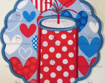 Fireworks Scallop Iron On or Sew On Embroidered Applique