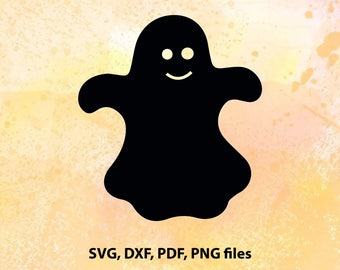 Ghost, Halloween decor, SVG,DXF, PDF and Png  Cutting files for Cutting machines, Cricut explore, Silhouette cameo
